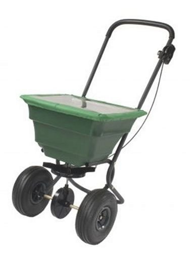 Precision Products 75-Pound Capacity Broadcast Spreader with Pneumatic Tires and Rain Cover SB4000PRCGY by Precision Products