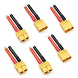 Drone Repair Parts - 3 Pairs XT60 Plug Female and Male Connector with 12AWG Silicon Wire for RC Lipo Battery Cable Drone
