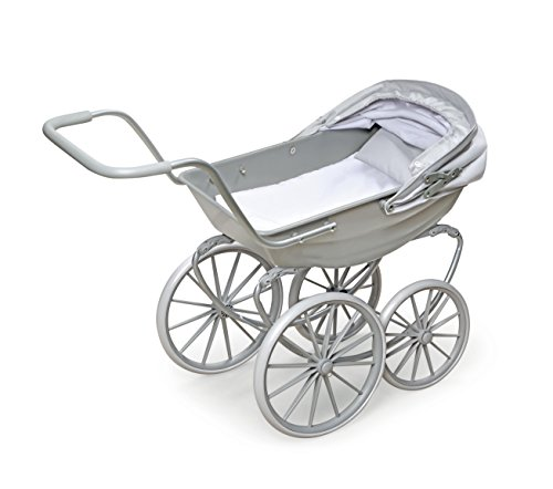 Badger Basket London Doll Pram ,fits American Girl Dolls, Gray by Badger Basket (Image #4)