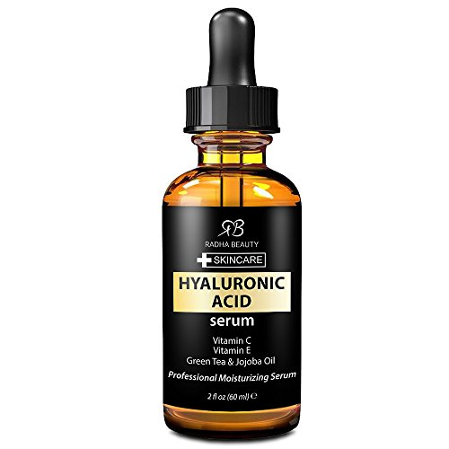 Radha Beauty Hyaluronic Acid Serum 2 oz - Anti aging Serum to Reduces Wrinkles & Fine Lines of the face - For Radiant and Younger looking skin with vitamin c and vitamin e