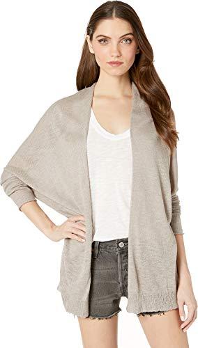 (Michael Stars Women's Joslyn Linen Blend Long Sleeve Cardigan Sweater Castle Medium)