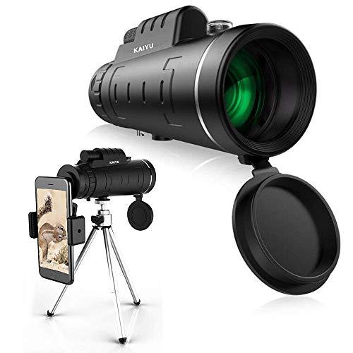 Monocular Telescope, 12X50 High Power & HD Monocular with Universal Smartphone Holder – [Upgrade] Dual Focus Optics Scope, Waterproof Scope, BAK4 Prism FMC for Bird Watching, Hunting, Camping, Hiking