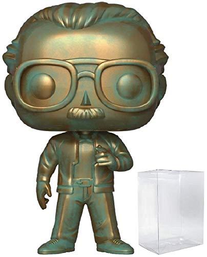 Marvel: Stan Lee (Patina) Funko Pop! Icons Vinyl Figure (Includes Compatible Pop Box Protector - Patina Autumn