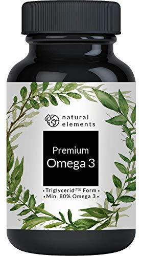 Premium Omega 3 Fischöl Kapseln - 3-fache Stärke: GoldenOmega® mit 80% Omega 3-Gehalt und in Triglycerid-Form - Laborgeprüft, aufwendig aufgereinigt und aus nachhaltigem Fischfang