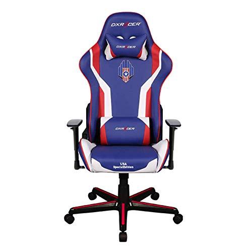 DXRacer OH/FH186/IWR/USA3 Special Edition USA Formula Series Gaming Chair Ergonomic High Backrest Office Computer Chair Esports Chair Swivel Tilt and Recline w/Headrest and Lumbar Cushion + Warranty