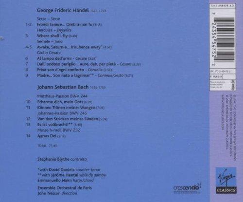 Stephanie Blythe - Handel & Bach Arias by Alliance