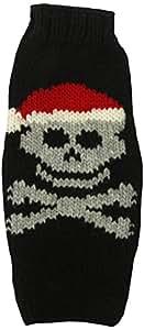 Chilly Dog Santa Skull Dog Sweater, X-Small
