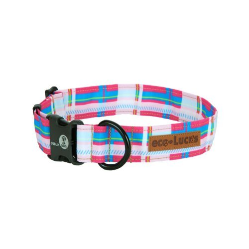 Dublin Dog Co Eco Lucks Hampton Dog Collar, Cosmo, 12 by 20-Inch, Medium