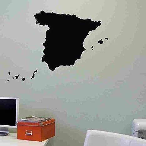 Crjzty Perchero Vinilo España Mapa Etiqueta España Calcomanía Carteles Vinilo Tatuajes de Pared Etiqueta de la Pared Decoración Mural Mapa 191 España Mapa Etiqueta 58X60cm: Amazon.es: Hogar