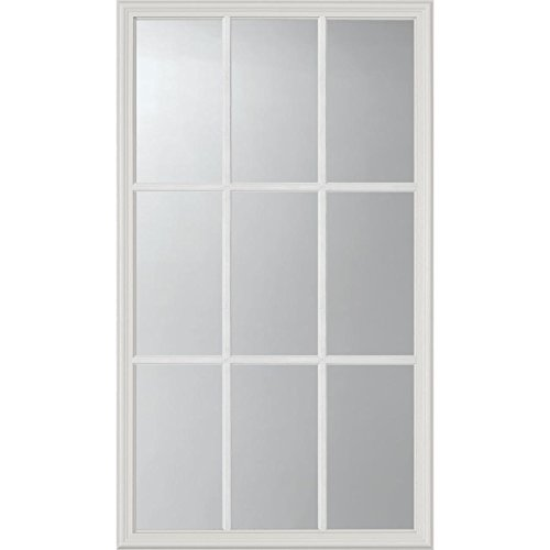ODL Clear Low-E Door Glass - 9 Light External Grille - 24