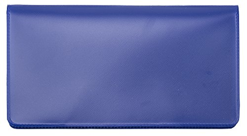 Royal Blue Vinyl Checkbook Cover