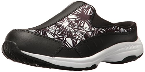 Easy Spirit Women's Traveltime Mule, Black/Black Multi Le...