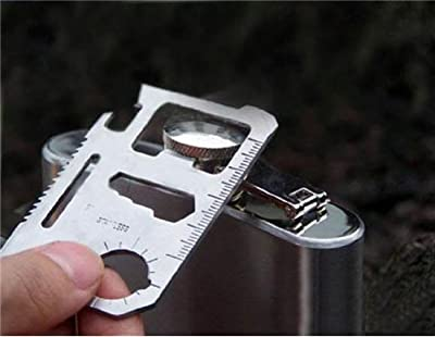 11 in 1 Emergency Survival Card Multi-Purpose Tool (Silver) by CRBHF