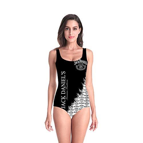 PLstar Cosmos Superhero Women's One Piece Swimsuit Monokini Bathing V-Neckline Swimwear for Women's (QL-YY-1, L-XL) ()
