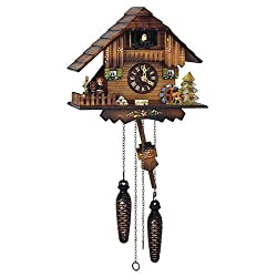 Schneider 9 Inch Quartz Dancing Figurines Cuckoo Black Forest Clock by Schneider