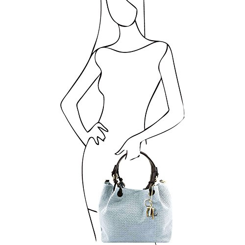 TUSCANY LEATHER TL141573, Borsa a spalla donna Blu blu compact