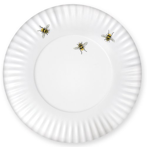 Mary Lake-Thompson Bee Melamine Dinner Plates, Set of 4 (Dinnerware Bee Bumble)
