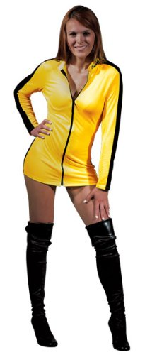 Bruce Lee Game Of Death Sexy Yellow Jumpsuit Dress Costume Adult (Game Of Death Costume)