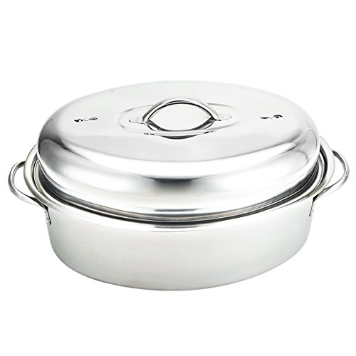 Stainless Steel Oval-shaped 16? Turkey Roaster