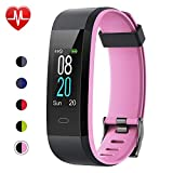 Willful Fitness Tracker with Heart Rate Monitor, Activity Tracker Pedometer with Step Counter Sleep Monitor 14 Sports Tracking,Color Screen IP68 Waterproof,Fitness Watch for Women Men Kids (Pink)