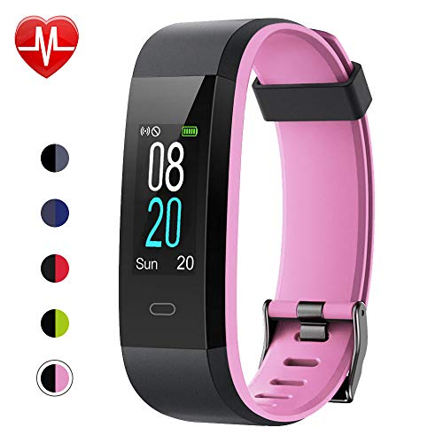 Willful Fitness Tracker with Heart Rate Monitor, Activity Tracker Pedometer with Step Counter Sleep Monitor 14 Sports Tracking,Color Screen IP68 Waterproof,Fitness Watch for Women Men Kids - Ladies Player Pink Watch