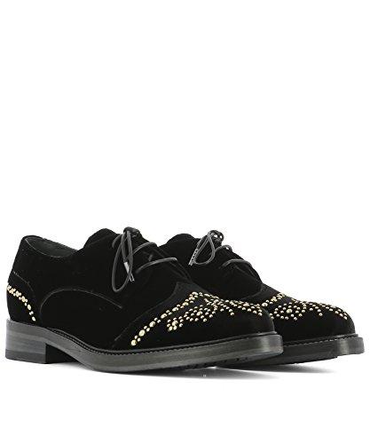 Giancarlo Paoli Mujer F2A21T Negro Terciopelo Zapatos De Cordones