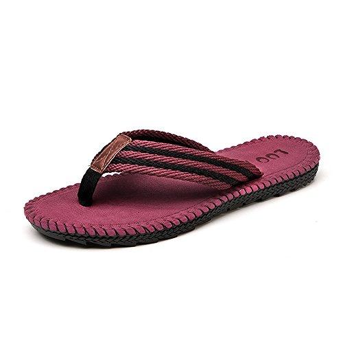 Looken Pantofole Da Uomo Sandali Da Spiaggia Ciabattine Di Stoffa Comode Pantofole Di Moda Da Uomo Infradito Rosse