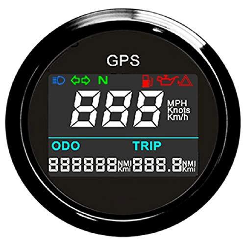 Velocímetro digital GPS con medidor de velocidad LCD y antena GPS para motocicleta de 52 mm 9 – 32 V ELING