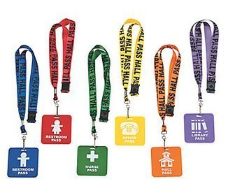 GIFTEXPRESS Hall Pass Lanyards and School Passes Set of - Pass Hall