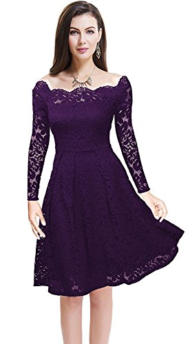 Buy long sleeve empire waist cocktail dress - 9