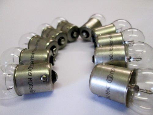 Klassische Motorrad / Roller Glühbirnen 6V 10W BA15S P244 - 10 Stück Packung