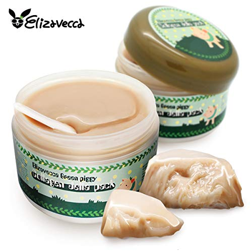 Elizavecca Green Piggy Collagen Jella Pack Pig Mask for Wrinkles Intense Hydration 100 g, 3.53 Ounce (3.53 Ounce Cream)