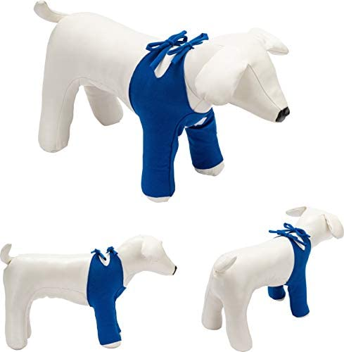 Bendana Postoperativer Anzug für Hunde und Katzen, schützt Wunden und Verbände und lässt dem Tier Seine Bewegungsfreiheit. Modell 061 - Schutz der Vorderbeine mit Schnüren