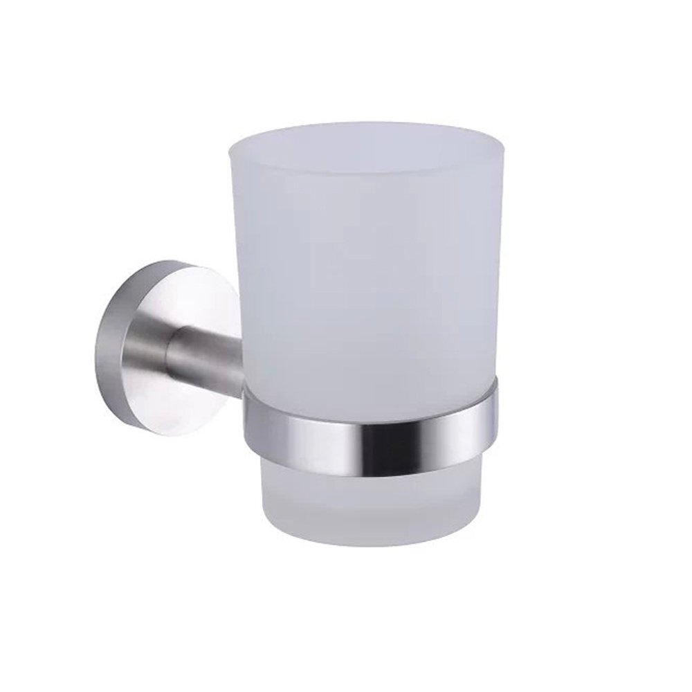 XVL Bathroom Wall-Mounted Toothbrush Holder, Brushed Steel G1006
