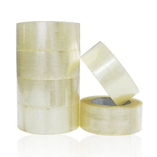 STRONG Clear Packing Tape 2 inch x 100 Yards Per Roll (Pack of 6 Rolls), 2