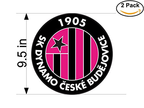 fan products of SK Dynamo Ceske Budejovice Czech Republic Soccer Football Club FC 2 Stickers Car Bumper Window Sticker Decal Huge 9.5 inches