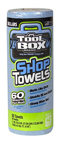 """Price comparison product image Sellars 54400 ToolBox Z400 Shop Recycled Disposable Towel,  11"""" Length x 9.4"""" Width,  Blue (30 Rolls of 60 Sheets)"""