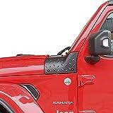 Kooun Jeep Wrangler JL Cowl Body Armor Cover Corner Guards - Fits JL & 2020 Jeep Gladiator JT, Extra Protection Decoration, Textured Black, Pair