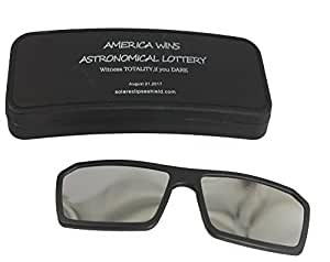 SOLAR ECLIPSE GLASSES CLIP ON SUNGLASSES SHADES VIEWER SAFETY EYE PROTECTION that MOUNTS DIRECTLY Onto Your PRESCRIPTION GLASSES Plus HARD CASE TOTAL SOLAR ECLIPSE of 2017