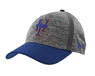 New York Mets Medium/Large Flex Fit Hat Cap - Gray and Blue