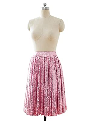 Sarahbridal Juniors Tea Length Sequins Skirt Short Prom Party Evening Cocktial Skirts