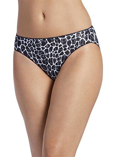 (Jockey Women's Underwear No Panty Line Promise Tactel Bikini, Animal Black, 6)