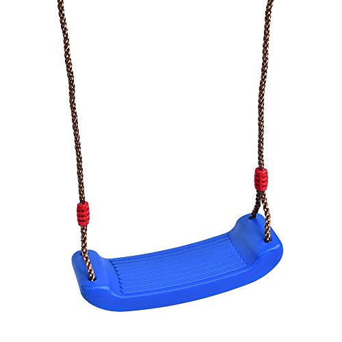 (YUIOP Outdoor Plastic Swing Up to 300 Lbs Rigid Hard Seat Child Swing Playground Swing Set Accessories Swing Seat Replacement for The Porch, Tree, Playground, Park or Backyard(Blue))