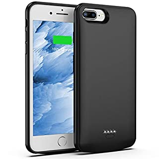 Swaller Battery Case for iPhone 8 Plus/7 Plus, 5500mAh Slim Portable Charger Case Extend 150% Battery Life, Protective Backup Charging Case Compatible with iPhone 8 Plus/7 Plus (Black)
