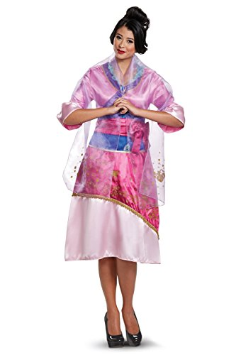 Disguise Women's Mulan Deluxe Adult Costume, Pink,
