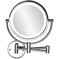 "6"" Mirrors for Wall Lighted Wall Makeup Mirror Vanity Mirror with 5X Magnification,Double-Sided Mirrors for Wall Decor"