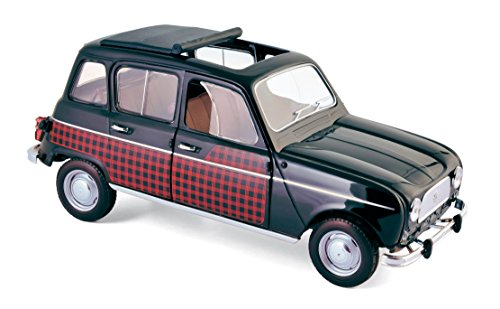Norev - Renault 4L Parisienne - 1964 car Collectible 185242, Black/Red
