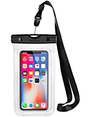 Funda Impermeable Movíl, Mpow Bolsa Impermeable Movil Transparente, 6.5in para iPhone XS/X/XR/8/8 Plus/Galaxy S10/S9/S8/Mate 20/P30/P20, IPX8 Certificado Impermeable, Funda Playa para Movíl Universal