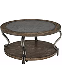 ashley furniture signature design rogness end table vintage casual pine wood rustic brown
