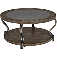 Ashley Furniture Signature Design - Rogness End Table - Vintage Casual Pine Wood - Rustic Brown